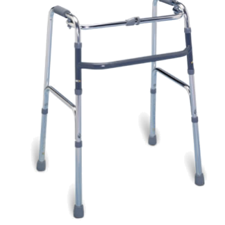 Lightweight folding aluminum walker