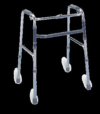 Lightweight folding aluminum walker