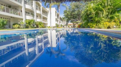 The pool at the wheelchair accessible condominium