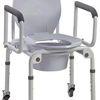 Rolling Drop Arm commode shower chair